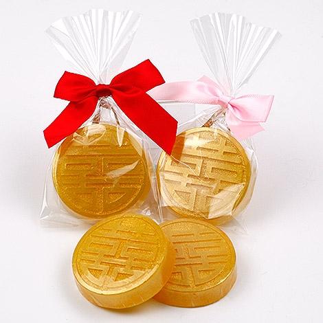 幸福婚禮小物喜字錢幣造型手工香皂喝茶禮探房禮送客禮活動禮物手工香皂