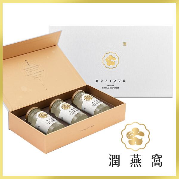 【時時樂限定】潤燕窩 黃金特潤冰糖燕窩3入禮盒(140ml x3瓶) 冰糖燕窩 送禮推薦