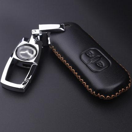 2014-2017款mazda3 AXELA真皮鑰匙包CX-5 CX-3 CX-9馬自達6 Wagon汽車鑰匙皮套手工縫線