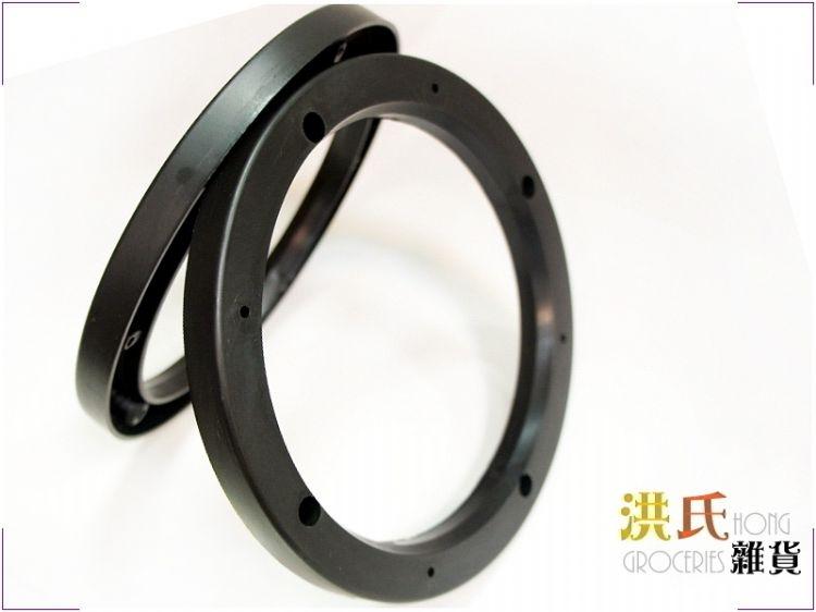 【洪氏雜貨】306A018 喇叭空心墊 6.5吋 黑色 2入