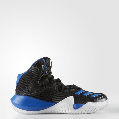 ADIDAS BASKETBALL KIDS CRAZY TEAM童鞋大童籃球中底緩衝黑藍運動世界BY3526