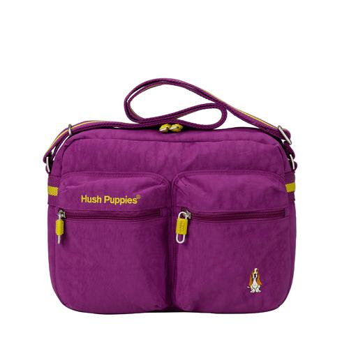 BACKBAGER背包族Hush Puppies CHIC帥勁系列肩背袋斜背包側背包外出包隨身包紫色紫色