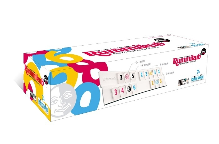 高雄龐奇桌遊拉密變臉版柱形盒包裝Rummikub Twist正版桌上遊戲專賣店
