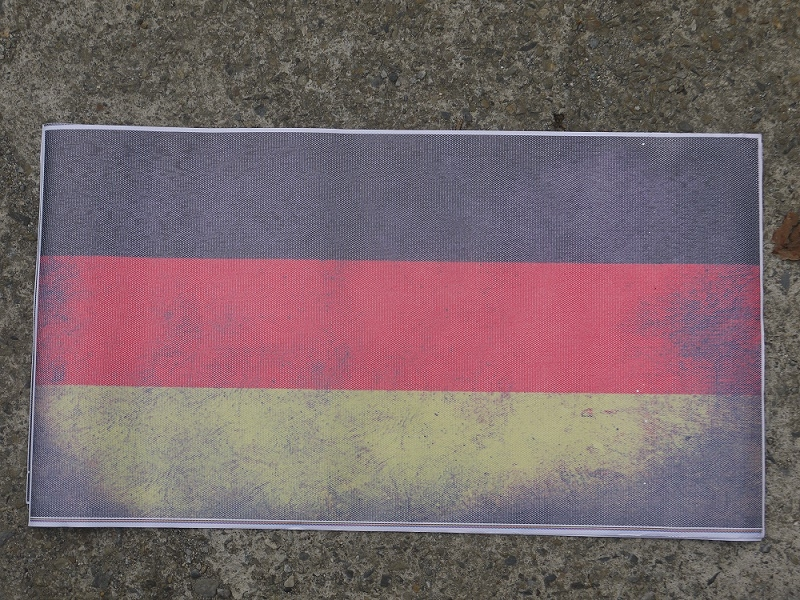 汽車天窗貼M款德國國旗洞洞隔熱貼玻璃貼隔熱貼隔熱紙側窗隔熱車頂彩繪貼膜隔熱遮陽