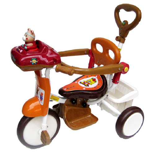 MIT精選童車三輪車系列快樂熊音樂三輪車506P1兩款顏色可選