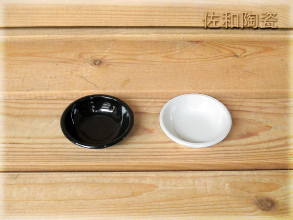~佐和陶瓷餐具~【=美耐皿=05B12100黑色100豆油池】/ 醬料碟 /
