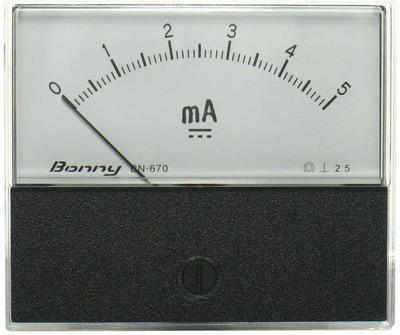DC5mA 670指針式工業用直流電流錶頭