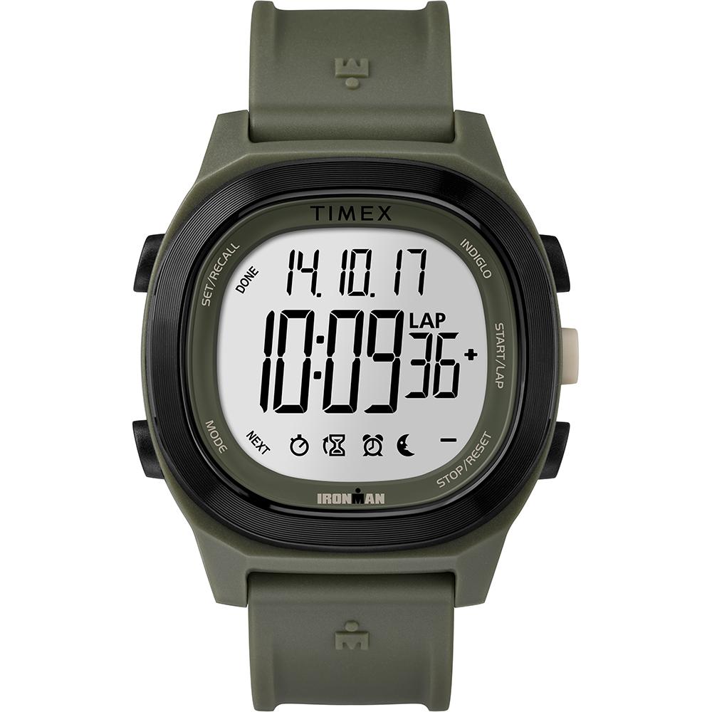 【TIMEX】 天美時 鐵人系列 多功能電子錶 (綠 TXTW5M19400)