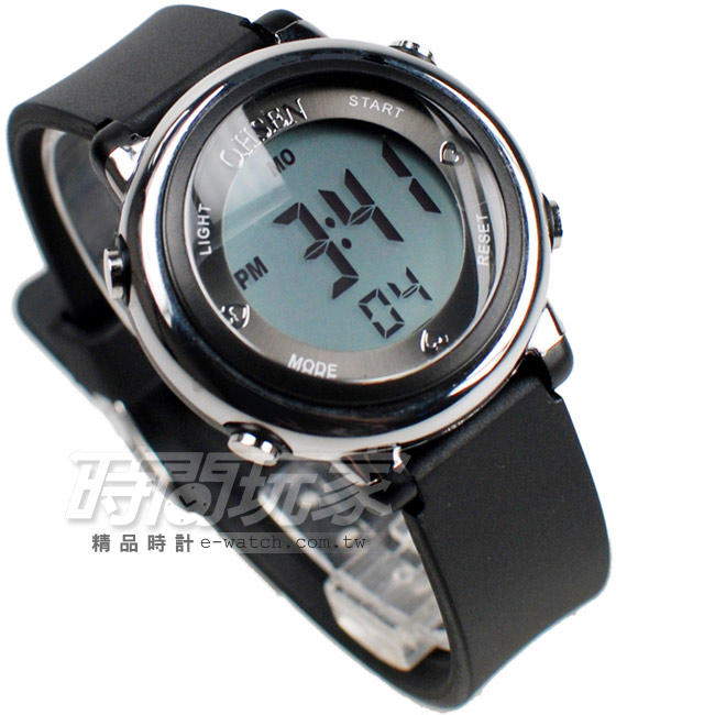 OHSEN多色搭配多功能計時碼錶電子錶女錶兒童手錶防水手錶夜光男童女童01605黑