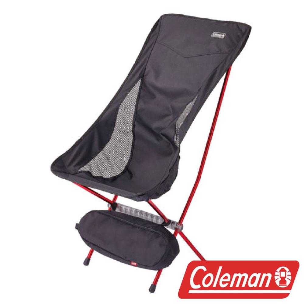 Coleman LEAF高背椅黑超輕鋁合金折疊月亮椅摺疊椅休閒椅折疊椅折合椅CM-26741