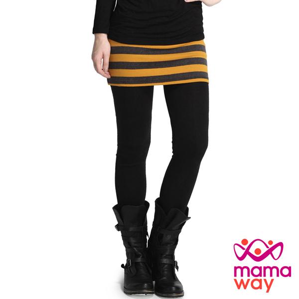 mamaway媽媽餵孕期裙褲貼腿共3色孕婦褲內搭褲貼腿褲