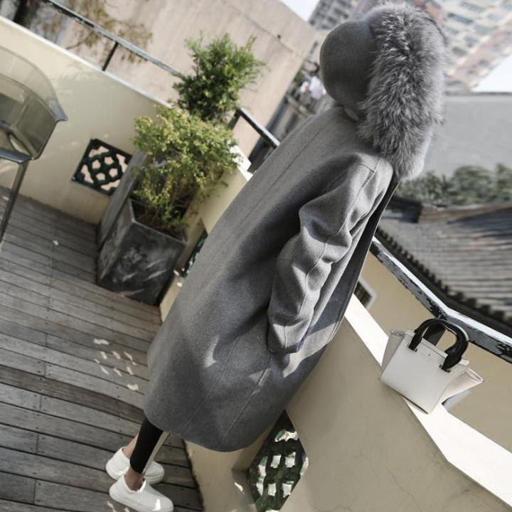 喬依長板外套大衣加絨保暖高質感有型中長版毛呢外套大衣L120