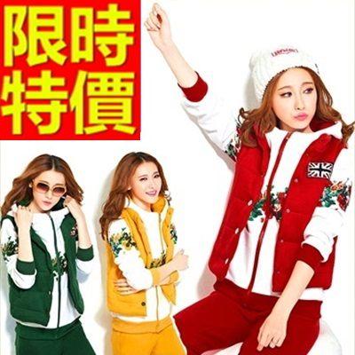 運動服套裝三件式自信非凡-純棉長袖日系禦寒女休閒服4色63s5時尚巴黎
