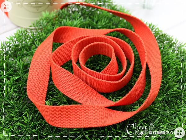 素色織帶25mm-桔紅(1尺)