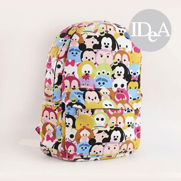 迪士尼TSUM TSUM疊疊樂雙肩帆布後背包運動媽媽包書包練習袋training bag Disney全家集點