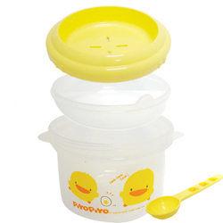 黃色小鴨 稀飯調理盒(微波爐專用) 新款大容量490c.c.