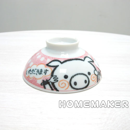 粉紅小豬小碗JK-80948