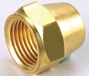 水電材料風壓接頭氣壓缸用快速接頭風用銅接頭喇叭螺帽5 16