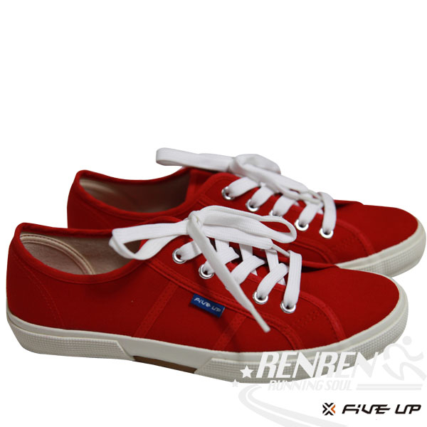 FIVE UP 女 簡約質感休閒帆布鞋 (紅) 2432200140【 胖媛的店 】