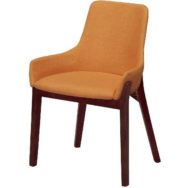 餐椅 CV-765-5 YS-16胡桃餐椅(布黃)【大眾家居舘】