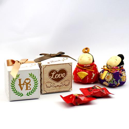 幸福婚禮小物DIY鄉村風喜糖盒喜糖盒送客禮桌上禮探房禮