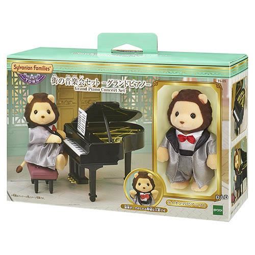森林家族日版城鎮TOWN系列鋼琴演奏獅子JOYBUS玩具百貨