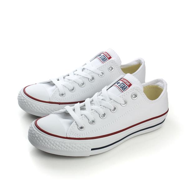 CONVERSE Chuck Taylor All Star帆布鞋基本款情侶鞋推薦低筒紅藍線白男女鞋M7652C no988