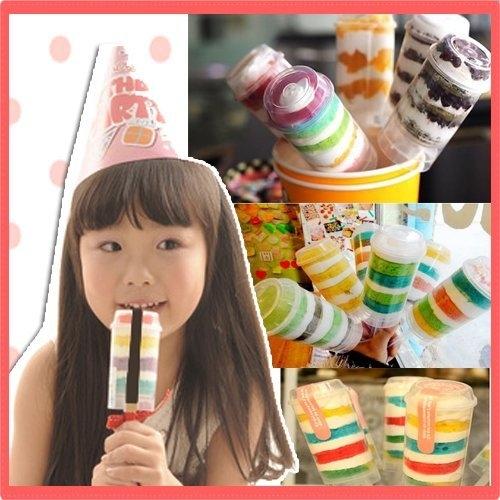 推推蛋糕樂桶 食物推進器 棒棒糖塑料桶 婚禮小物 可愛甜點(單個售)