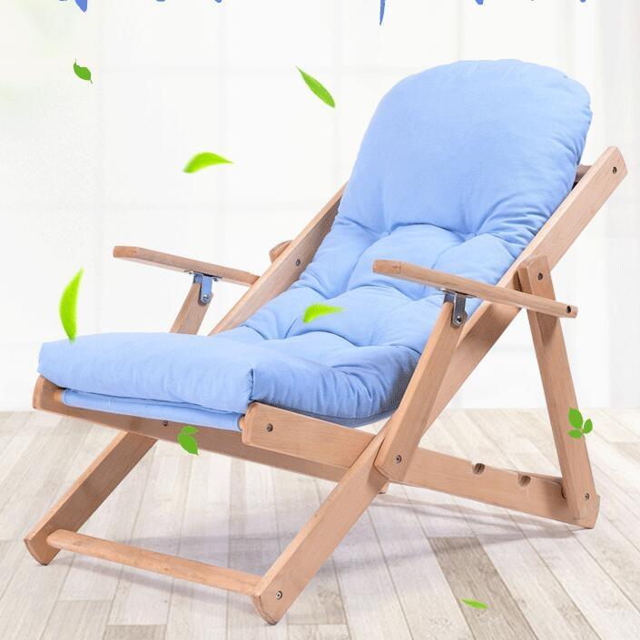 躺椅午睡折疊椅可調節沙發椅休閒椅陽臺飄窗椅實木布藝椅子陽臺椅tw幸福家居