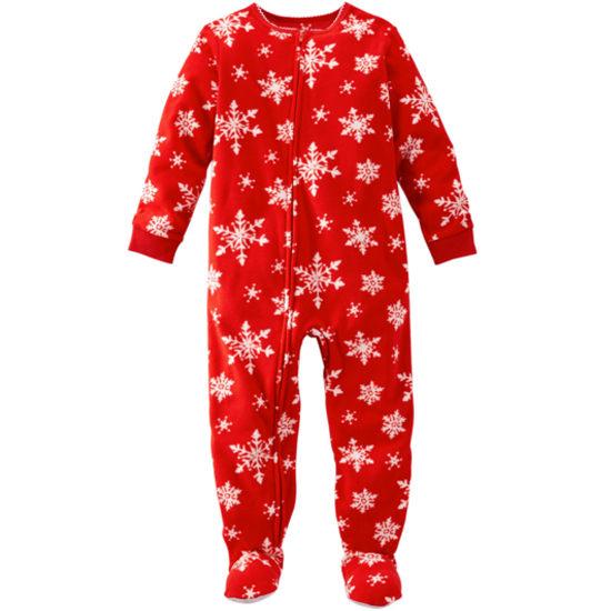 Carter's OshKosh美國童裝連身衣長褲長袖包腳紅色雪花12M 18M 24M