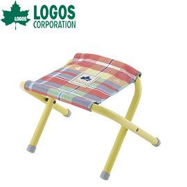 丹大戶外LOGOS日本愛麗絲格紋迷你野營攜便折疊椅折合釣魚椅烤肉椅兒童座椅73175030紅