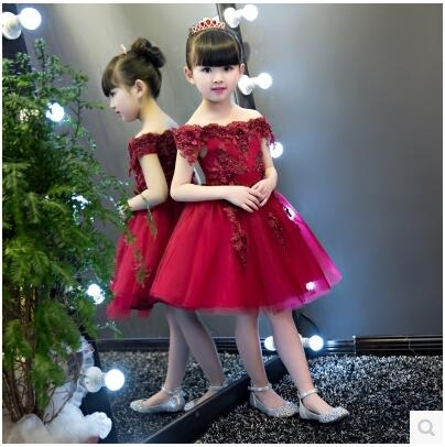 花童禮服公主裙女大童兒童婚紗蓬蓬裙小孩花童生日鋼琴演出服夏季