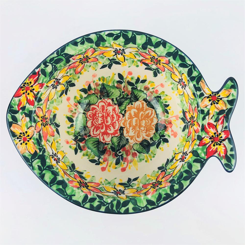 【手工波蘭陶 CA大廠】波蘭陶 15cm 魚 造型碗 E14-050-U4883