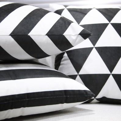 協貿國際黑白抱枕1入含芯