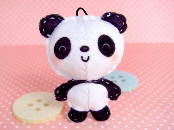 ☆猴子設計☆ 貓熊貝比布偶明信片-明信片可以DIY成一個可愛布偶-可加購材料包