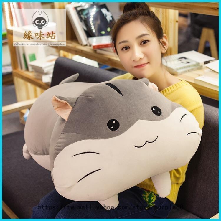 倉鼠抱枕毛絨  多功能 50cm 個性珊瑚絨 午睡枕頭【緣味站】YWZ-134952