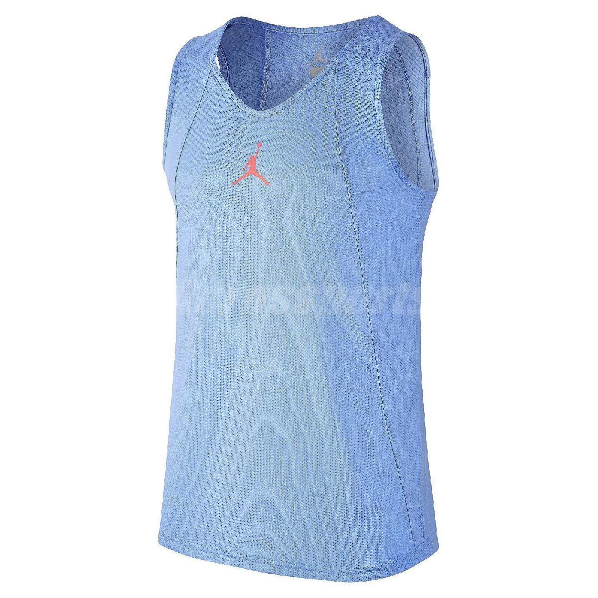 Nike背心Flight Rise Jersey藍橘紅無袖上衣球衣男款PUMP306 789481-412