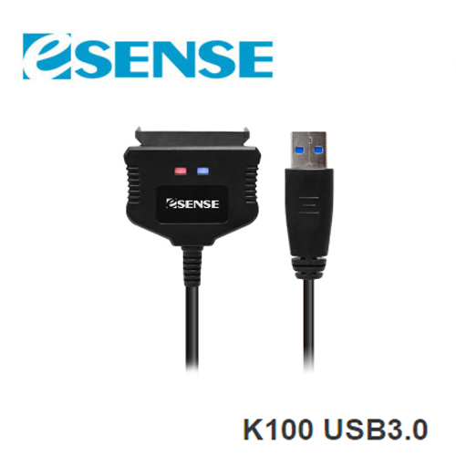 Esense 逸盛 K100 USB3.0 2.5吋 SATA3 快捷線