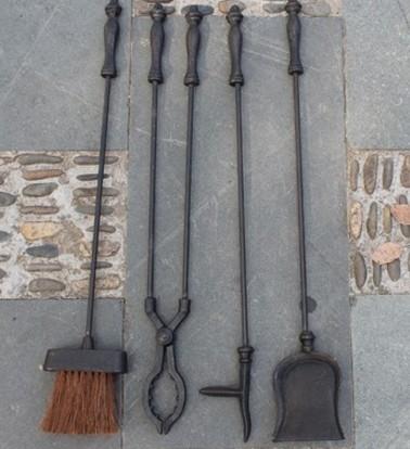 協貿國際歐式複古鑄鐵壁爐工具1入