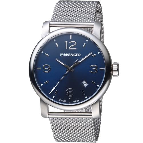 瑞士WENGER Urban 都會系列 都市美學米蘭帶紳士腕錶 01.1041.125
