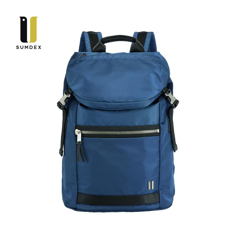 SUMDEX 14.1吋10吋平板城市潮流後背包NON-793BU藍色