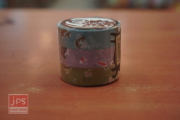 日本倉敷意匠和紙膠帶-小女孩3入組15mm