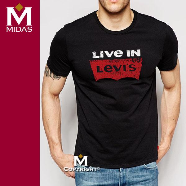Levis T恤【進口正品現貨】男短T 全球最新款 Live in Levis 短袖T恤 純棉 圓領T 品牌提袋裝/黑色