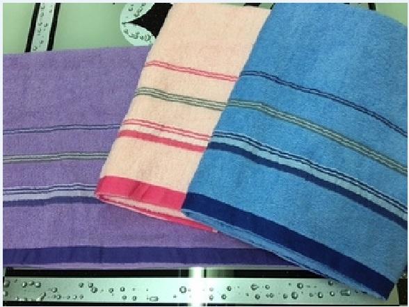 【多多毛巾】507精緻緞條紗浴巾-MIT微笑認證毛巾
