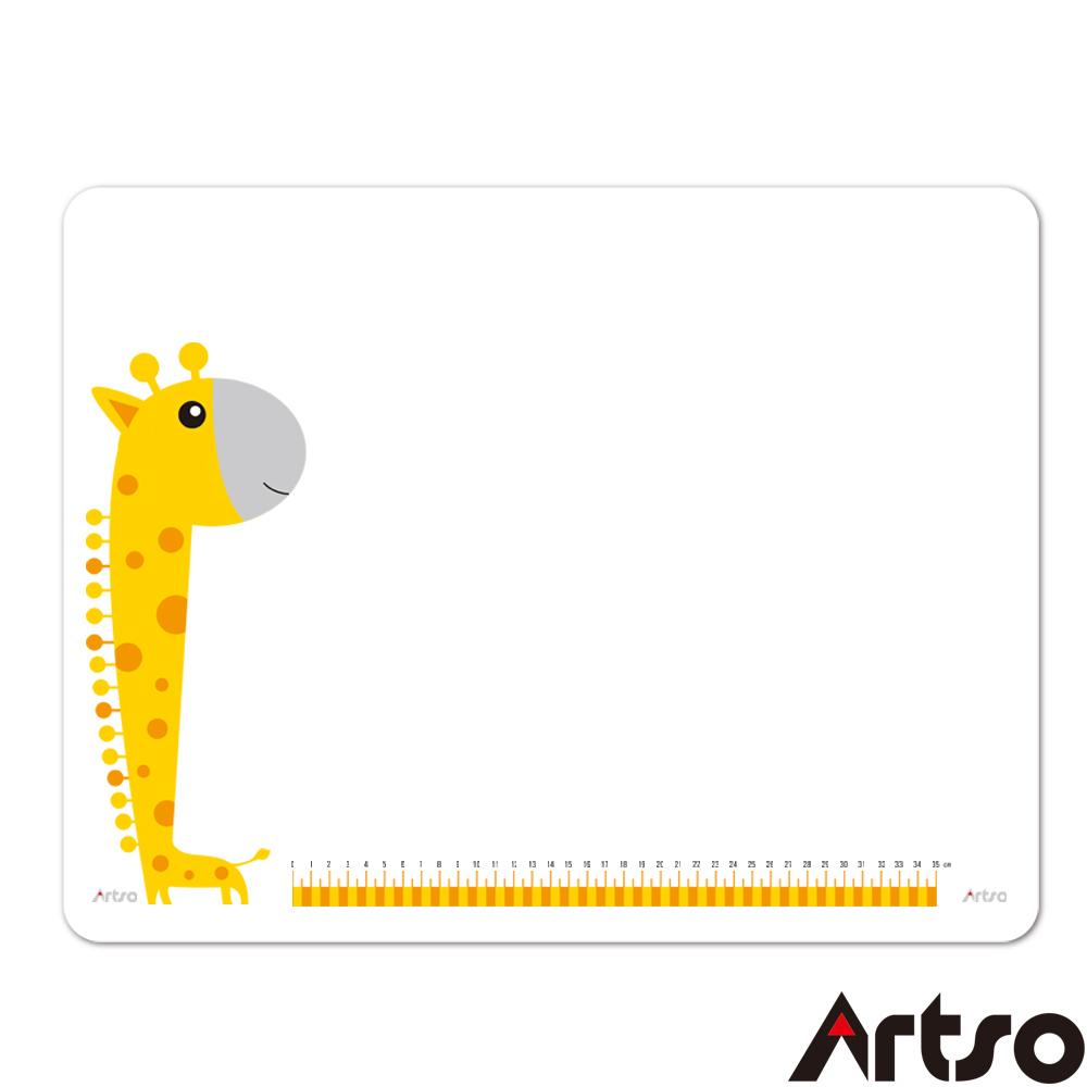 【Artso亞梭】長頸鹿透明桌墊-環保無毒耐刮耐磨易清潔墊板