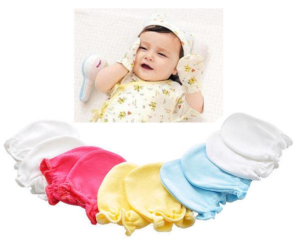 新生兒必備防抓臉護手套.全棉可愛圖案嬰兒護手套(不挑款)