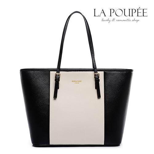 手提包 歐美都會簡約大容量A4托特包 3色-La Poupee樂芙比質感包飾 (現貨+預購)