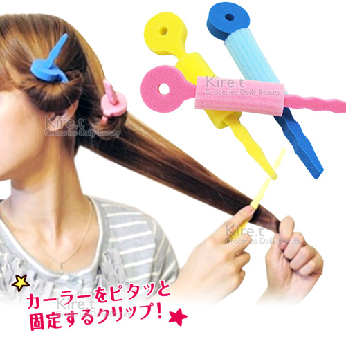 kiret日本空氣感髮捲棒海綿髮捲超值12入-卷髮多色隨機