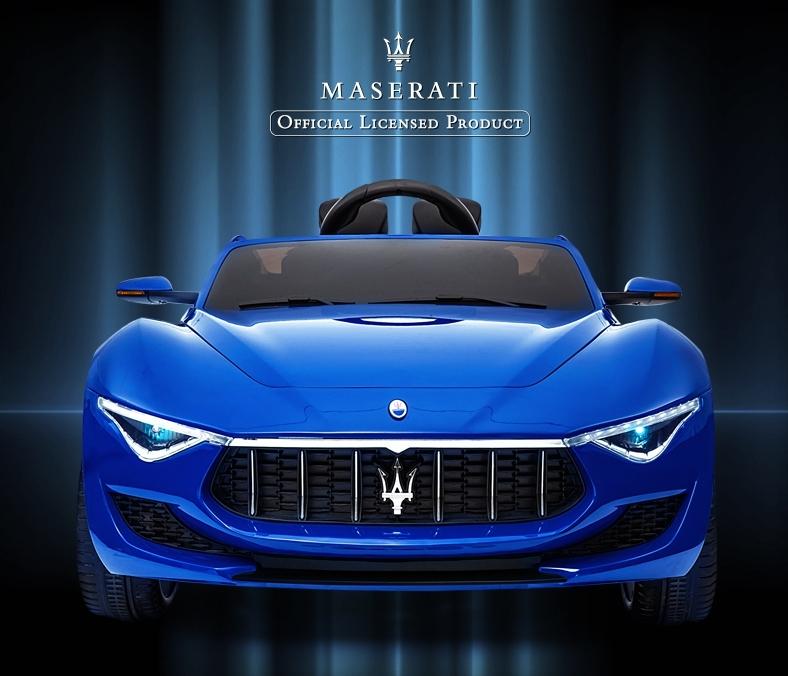 全新 酷炫原廠授權MASERETI 瑪莎拉蒂寶藍 兒童電動車雙驅,頂配 烤漆