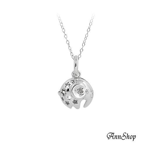 AnnShop小安的店925純銀可開式大象項鍊單條銀飾飾品情人禮物CL0491
